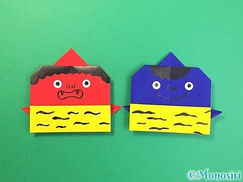 折り紙で可愛い鬼の折り方手順25