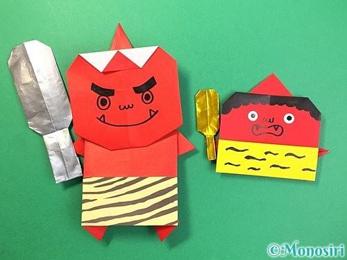 折り紙で金棒の折り方手順22