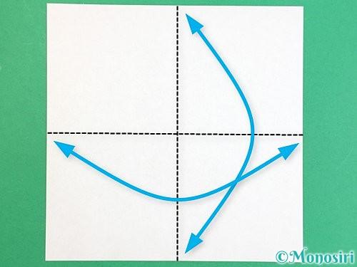 折り紙で枡の折り方手順1