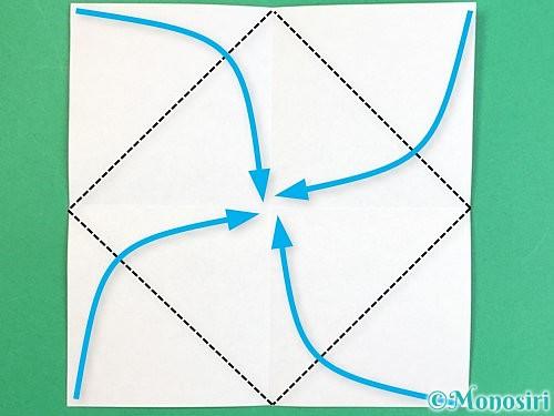 折り紙で枡の折り方手順3