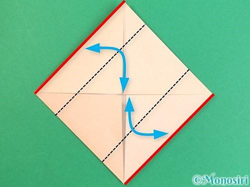 折り紙で枡の折り方手順5