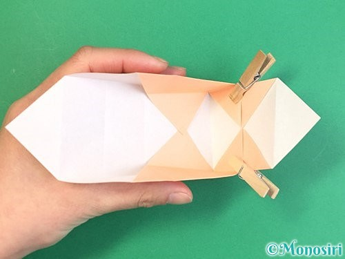 折り紙で枡の折り方手順15