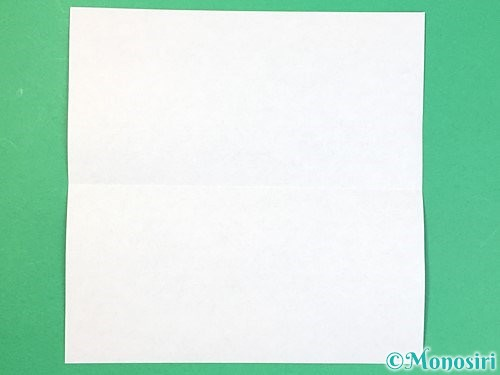 折り紙で箱の折り方手順2