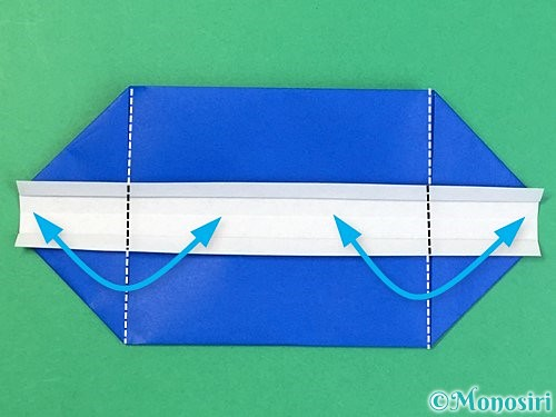 折り紙で箱の折り方手順11