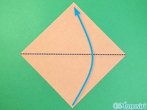 折り紙で菓子鉢の折り方手順1