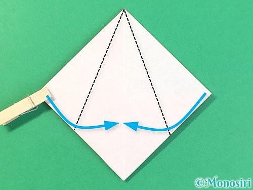 折り紙で菓子鉢の折り方手順15