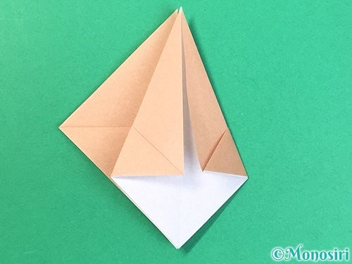 折り紙で菓子鉢の折り方手順16