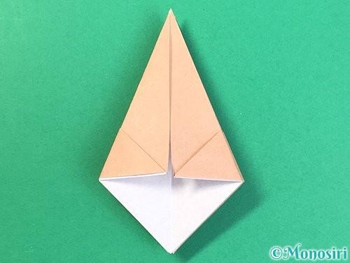 折り紙で菓子鉢の折り方手順17