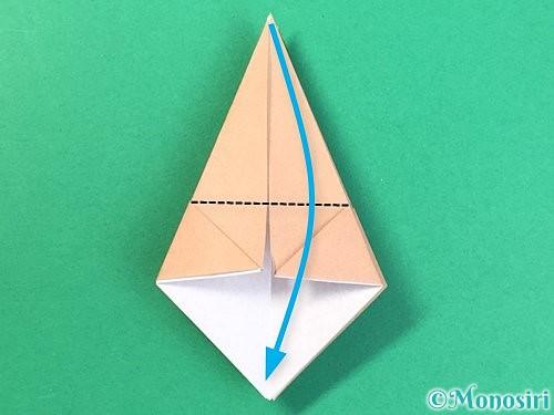 折り紙で菓子鉢の折り方手順18