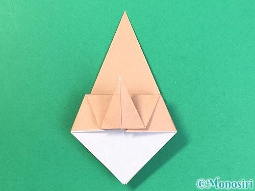 折り紙で菓子鉢の折り方手順21