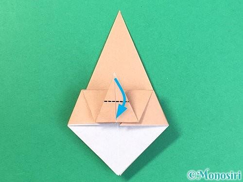 折り紙で菓子鉢の折り方手順22