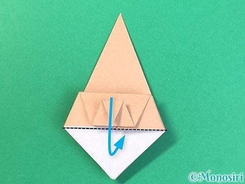折り紙で菓子鉢の折り方手順24
