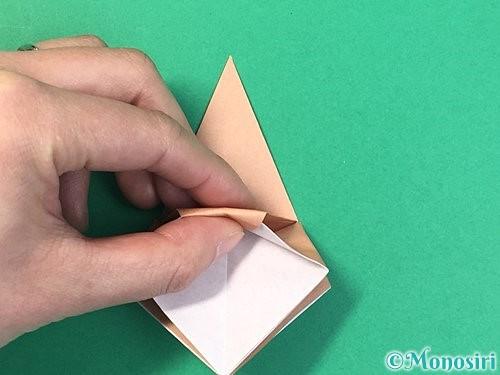 折り紙で菓子鉢の折り方手順25