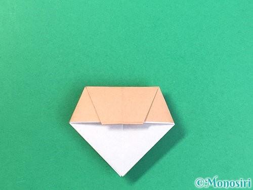 折り紙で菓子鉢の折り方手順27
