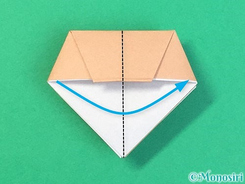 折り紙で菓子鉢の折り方手順28