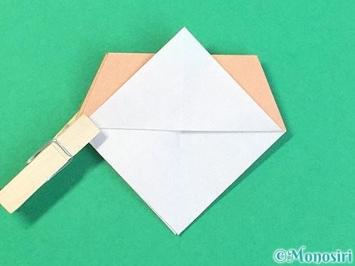 折り紙で菓子鉢の折り方手順31