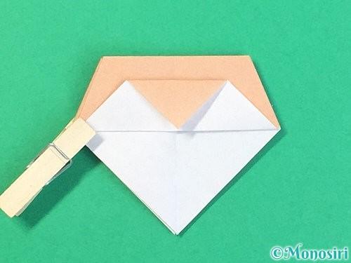 折り紙で菓子鉢の折り方手順33
