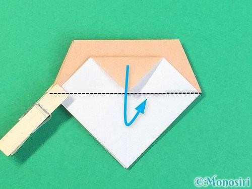 折り紙で菓子鉢の折り方手順34