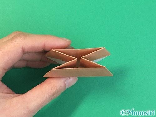 折り紙で菓子鉢の折り方手順38