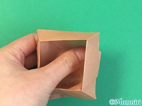 折り紙で菓子鉢の折り方手順39