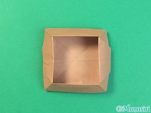 折り紙で菓子鉢の折り方手順40