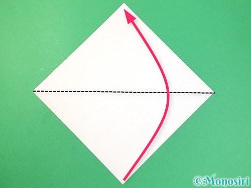 折り紙で角香箱の折り方手順1