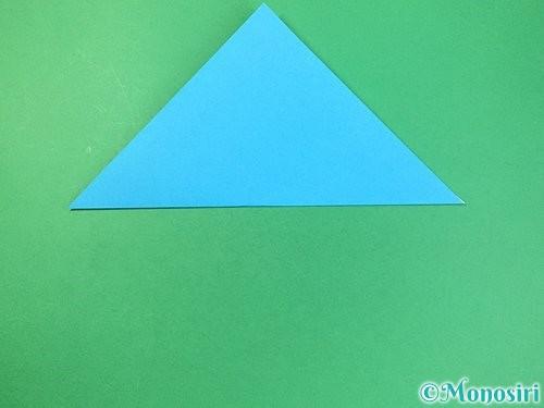 折り紙で角香箱の折り方手順2