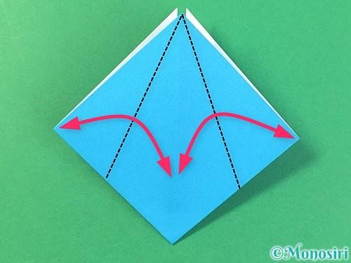 折り紙で角香箱の折り方手順9