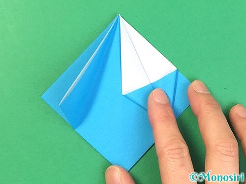 折り紙で角香箱の折り方手順12