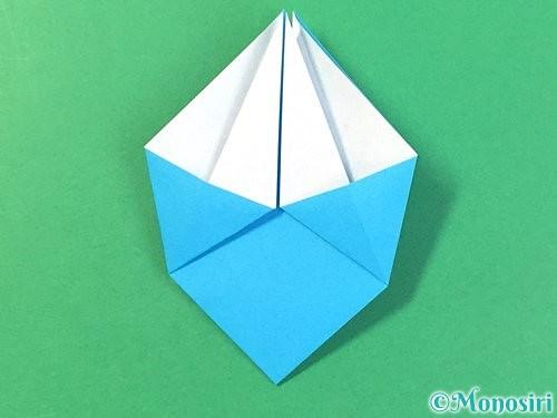 折り紙で角香箱の折り方手順15