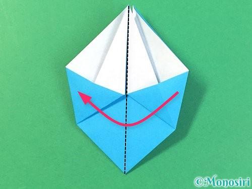 折り紙で角香箱の折り方手順16