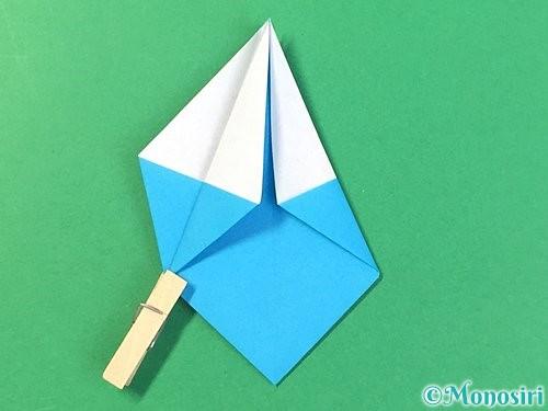 折り紙で角香箱の折り方手順19