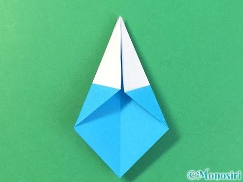 折り紙で角香箱の折り方手順20