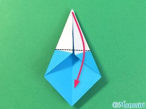折り紙で角香箱の折り方手順21