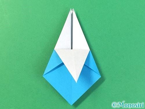 折り紙で角香箱の折り方手順22