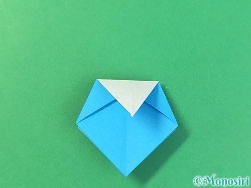 折り紙で角香箱の折り方手順23