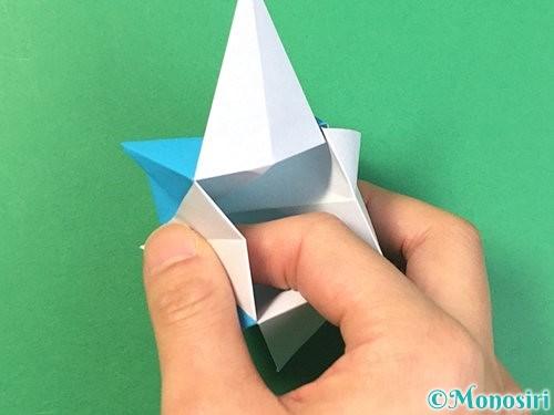 折り紙で角香箱の折り方手順25