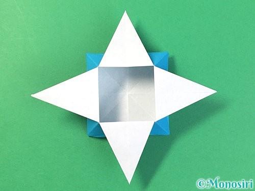 折り紙で角香箱の折り方手順26
