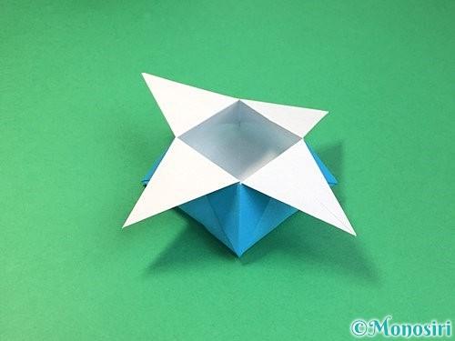 折り紙で角香箱の折り方手順27