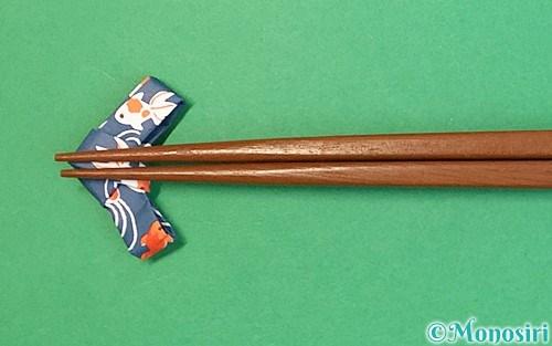 折り紙で折った箸置き