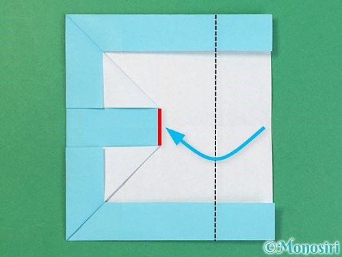折り紙でアルファベットのBの折り方手順18