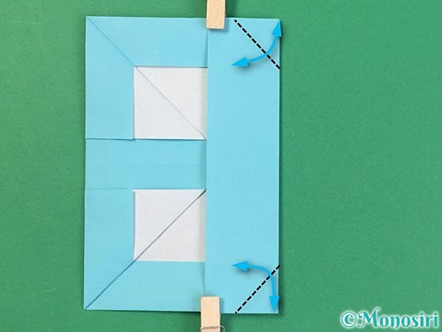 折り紙でアルファベットのBの折り方手順20