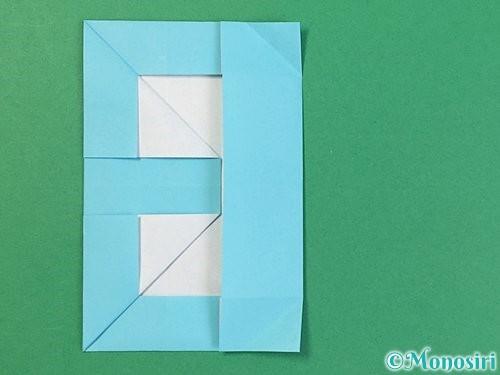 折り紙でアルファベットのBの折り方手順21