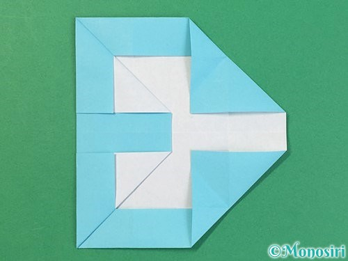 折り紙でアルファベットのBの折り方手順25