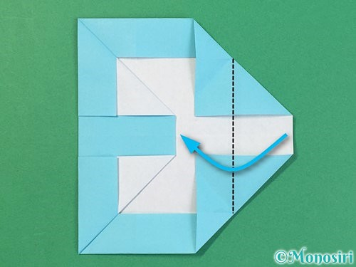 折り紙でアルファベットのBの折り方手順26