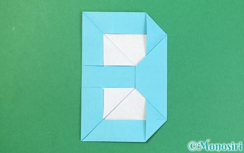 折り紙で作ったアルファベットのB