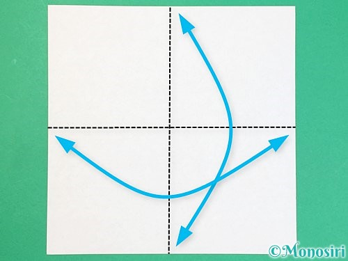折り紙でアルファベットのDの折り方手順1