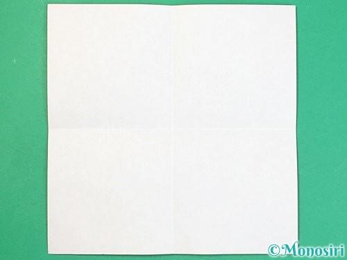 折り紙でアルファベットのDの折り方手順2
