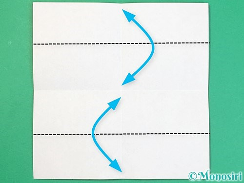 折り紙でアルファベットのDの折り方手順3