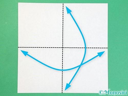 折り紙でアルファベットのFの折り方手順1